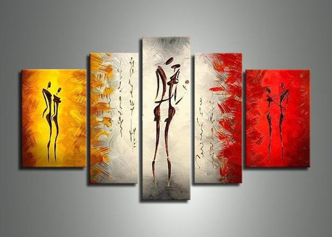 Abstract Human Canvas Oil Painting 433 - 58x36in