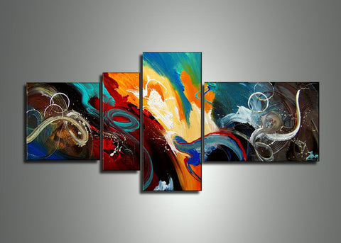 Contemporary Abstract Oil Painting 471 - 60x30in