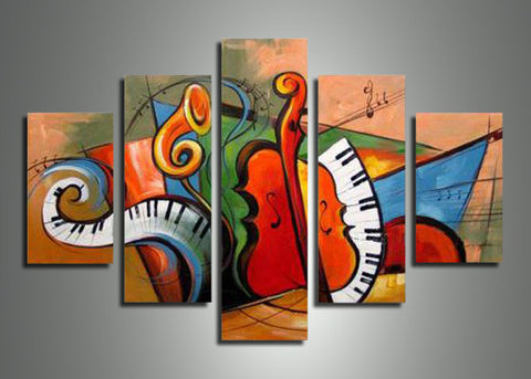 Large Music Painting 533 - 60x36in