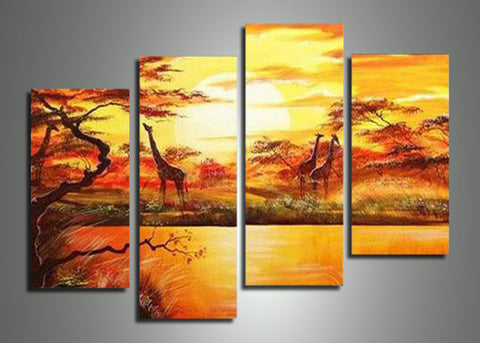 African Forest Painting 553 - 50x36in
