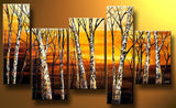 Yellow Tree Oil Painting 564 - 52x36in