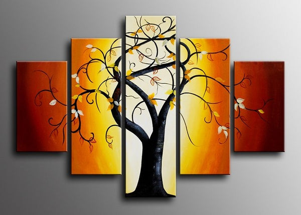 Multi Panels Tree Wall Art Painting 618 - 60x40in