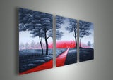 Modern Grey Tree Painting 737 - 48x24in