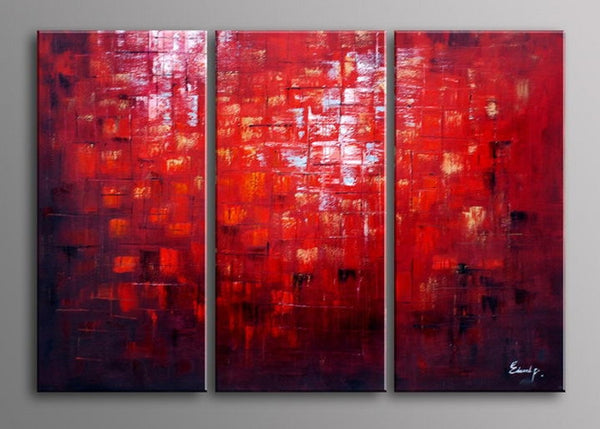 Red Textured Oil Painting 741 - 36x28in