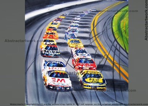 USA Nascar Painting - 30x40in