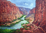 Grand Canyon Colorado River 40x30in