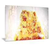Sparkling Bear- Animal Canvas Print PT2349