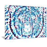 Psychedelic Bear - Animal Canvas Print PT2361