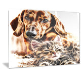 Best Buddies - Cat & Dog Canvas Art PT2413