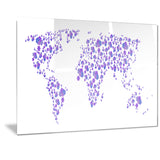 Lavender World - Map Canvas Art PT2714