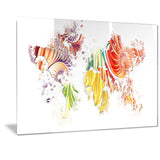 Colorful World - Map Canvas Art PT2719