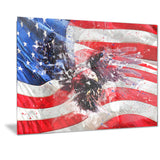 American Eagle and Flag PT2807