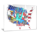 American Monuments Map ArtPT2830