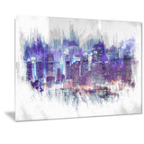 Midnight Cityscape - Large Canvas Art PT3301