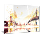 Golden Bridges Cityscape - Large Canvas Art PT3306