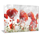 Orange Red Flower Buds - Floral Canvas Artwork