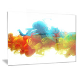 colorful ink in water abstract canvas artwork PT6027