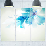 tender blue abstract flowers floral canvas print PT6029