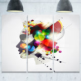 woman abstract profile abstract canvas artwork PT6030