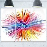 color explosion abstract canvas artwork PT6036