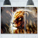 majestically peaceful lion animal canvas artwork PT6039