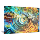 paths of stained glass abstract canvas artwork PT6045