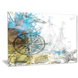 Marine Background Illustration Art Animal Canvas Print