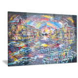 surreal city at night cityscape large canvas artwork PT6069