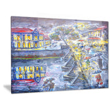 city at night graphics art cityscape canvas artwork PT6072