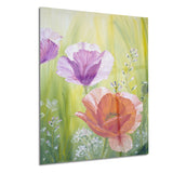 poppies in the morning floral canvas artwork PT6085