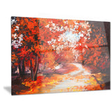 forest in the fall landscape canvas artwork PT6106