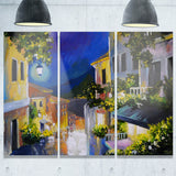 night city near sea landscape large canvas artwork PT6112
