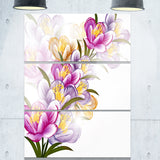 vector purple flowers floral canvas art print PT6124