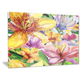 lily flowers illustration art floral large canvas print PT6131