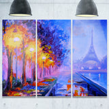eiffel from a distance landscape canvas artwork PT6137