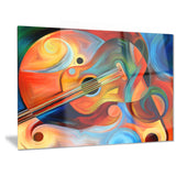 music and rhythm abstract canvas art print PT6138