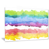 colorful stripes in vector pattern abstract canvas print PT6139