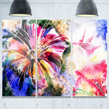 flowers in a collage floral canvas print PT6146