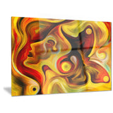 butterfly's emotions abstract canvas art print PT6147