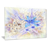 Flowers, Leaves Watercolor Art Floral Canvas Art Print