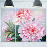 full blown peonies floral canvas art print PT6173