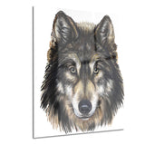 wolf head animal canvas art print PT6183