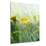 dandelion flowers floral canvas wall art print PT6207