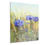 cornflowers in full bloom floral canvas art print PT6221