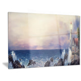 lighthouse sea panoramic landscape canvas art print PT6298