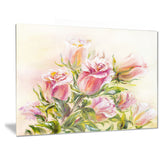rose oil painting floral canvas art print PT6309