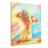 naked woman sitting sensual canvas art print PT6322