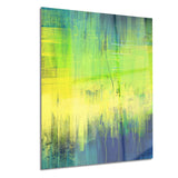 green blue fusion abstract canvas art print PT6330