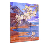 white orchid with sea floral canvas print PT6346