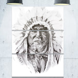 native american indian portrait canvas art print PT6369